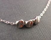 Twist Ball Necklace - with sterling silver chain