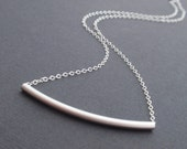 Tube Sterling Silver necklace - simple everyday jewelry - Bridesmaid,Wife, Girlfriend, Mothers Gift Idea