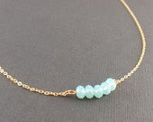 Pacific Opal crystal 14K Gold filled Necklace - minimal simple everyday jewelry