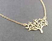 Gold Forever Tree Necklace - with 14k gold filled chain