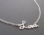 Love necklace - with sterling silver chain