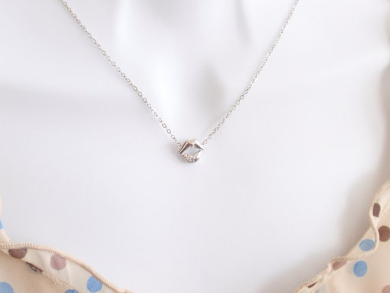 Kiss Sterling Silver Necklace-simple everyday jewelry- Bridesmaid,Wife, Girlfriend, Mothers Gift Idea