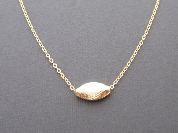 Gold Simple Eclipse Necklace - with 14K gold filled chain