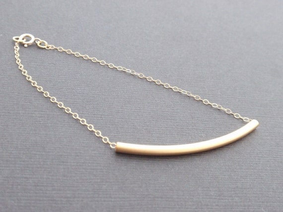 Tube 14k Gold filled Bracelet-simple everyday jewelry- Bridesmaid,Wife, Girlfriend, Mothers Gift Idea