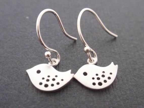 Tiny Little Bird silver Earring-cute,lovely gift idea