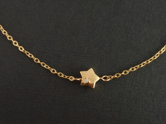 Gold Cubic Point Star Necklace -14K gold filled necklace - simple jewelry everyday necklace, minimalist, gift for mom girlfriend