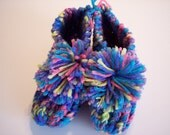 Clearance Sale Slippers Child Variegated color knitted