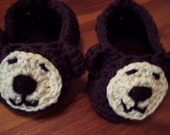 Baby Bear Slippers Size 0-6 mths