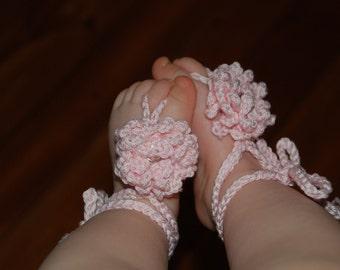 PATTERN Crochet Barefoot Baby Sandals