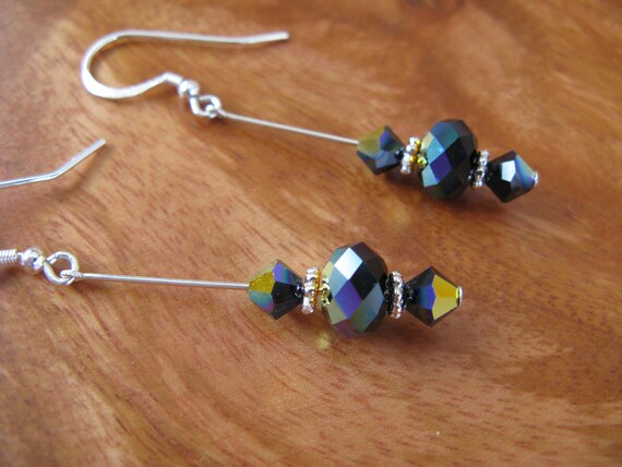 Swarovski Crystals and Sterling Silver Earrings