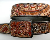 Gypsy Star Leather Belt