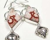 MAROON MOOKATE Silver 925 Pierced  Earrings
