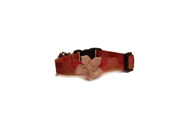 Pink XS Dog Collar, with a Pretty Pink Flower