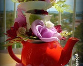 TEAPOT center piece for alice wonderland theme birthday party...