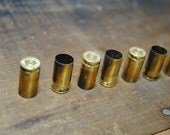 10 spent 9mm brass shells casings for jewelry making
