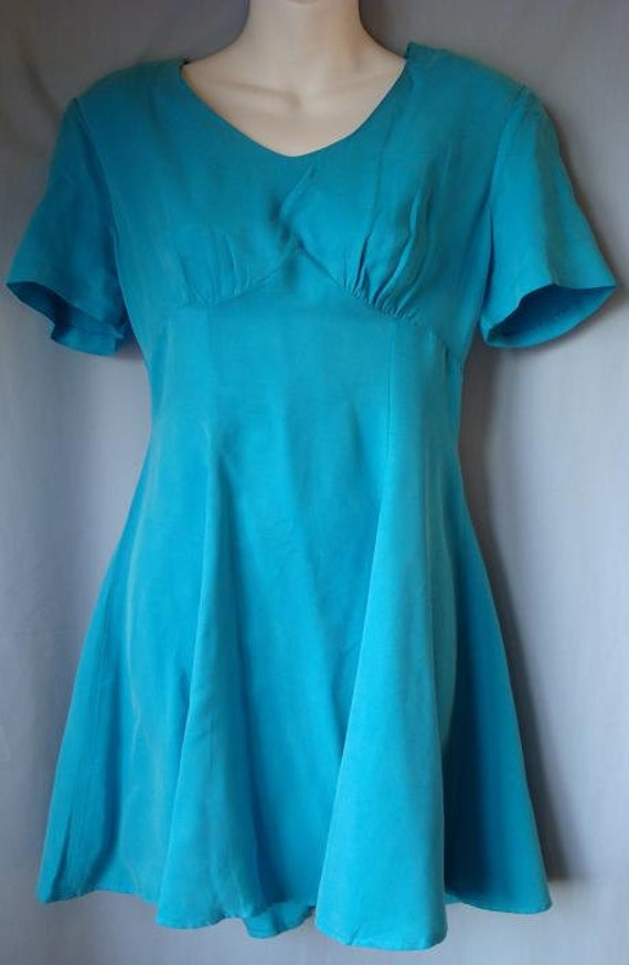 90s Blue Mini Dress Size 8