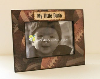 5x7 Football Sports Photo Frame Personalized