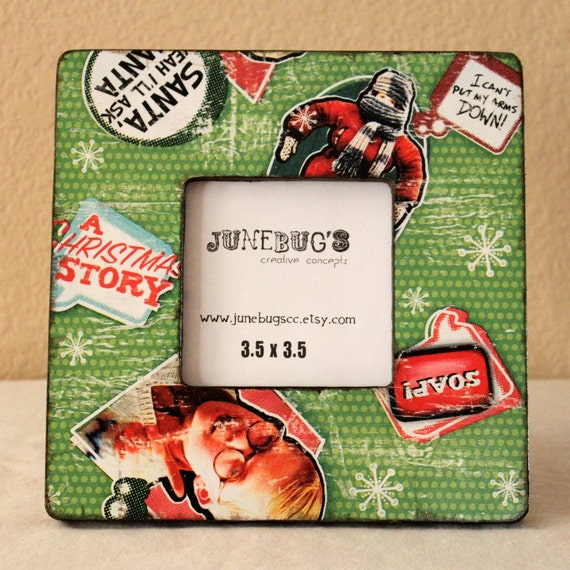 A Christmas Story Photo Frame- Personalized Decoupage Wood