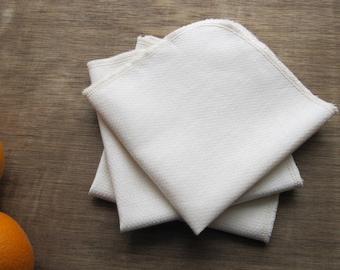 Organic Reusable Unpaper Towel Eco Friendly -- Organic Birdseye Unbleached Cotton -- Set of 24