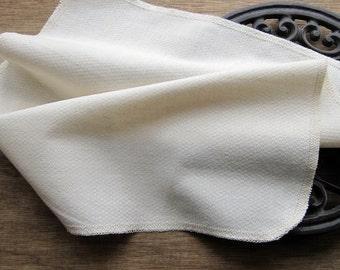 Organic Reusable Unpaper Towel -- Birdseye Unbleached Cotton Eco Friendly-- Set of 24