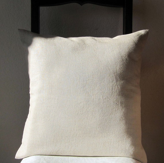 Linen Pillow Cover Natural Slip Cover Decorative Eco Friendly 16 X 16 Set of 2