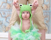 0 to 3 Months, 3 to 6 Months, 6 to 12 Months, Toddler, Frog Hat, Green Hat, Earflap Hat, Ski Hat, Animal Hat, Crochet Baby Hat, Photo Prop