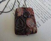 Carved Butterfly Stone Necklace