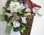 Bird Grapevine Hanging Basket
