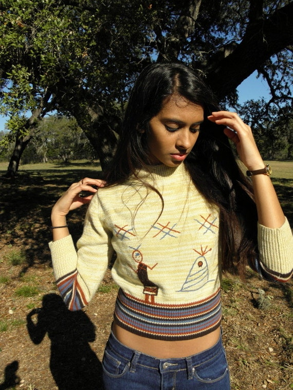lady of the teepee sweater