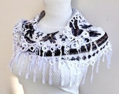 NEW LISTING Scarf Adorned Frinle Guipure Bandana,Headband,Elegant 2012 fashion