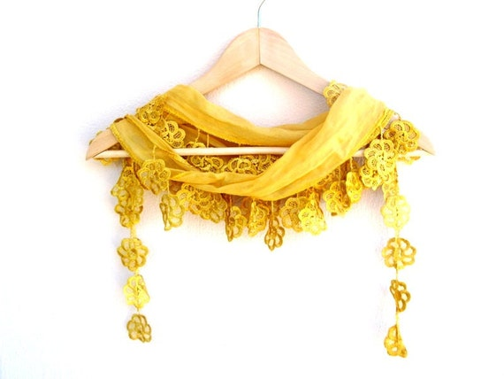 NEW LISTING Natural Cotton Scarf Adorned Fringed Guipure Scarf,Bandana,Headband,Elegant 2013 fashion