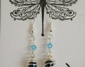 Swarovski Pearl and Crystal Silver Plated Earrings