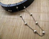 Long, Vintage style Pearl Necklace