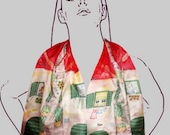Hand Painted Silk Scarf Wrap Up Dalmatia