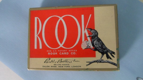 Vintage 1936 Rook Card Game by Parker Brothers Inc.