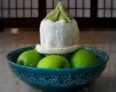 Sweet Leaf Knit Baby Hat