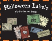 Printable Digital Halloween Jar Labels for Parties and Decor - Set of 8