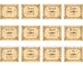 Printable Digital Wiccan Herb Labels - Digital Printable Scrapbooking
