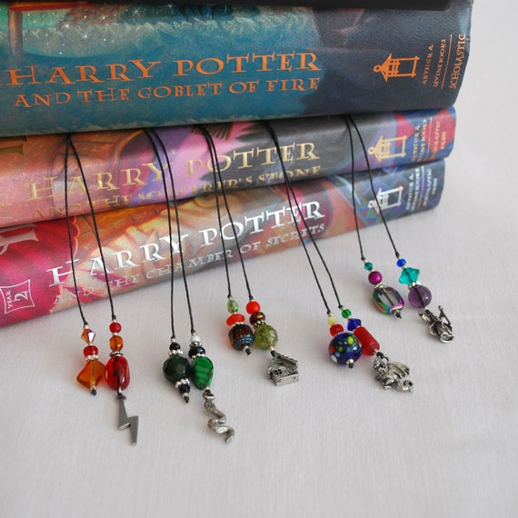 Set of Five Wizarding World Beaded Book Marks, Set 1