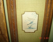 Vintage Asian Bird Art  H. Hal Kramer Ca1960s 1970s REDUCED
