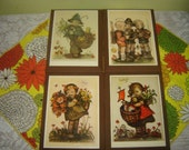 Reduced-Vintage Hummel Wall Hangings Set of 4 1970s or 1980s