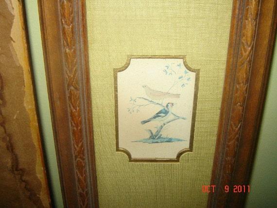 Vintage Asian Bird Art  H. Hal Kramer Ca1960s 1970s REDUCED