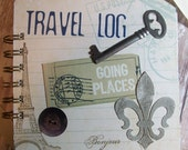 Gorgeous Travel or Vacation Themed Spiral-bound Scrapbook 5 1/4 x 5 1/4 inches with Pre Finished Pages