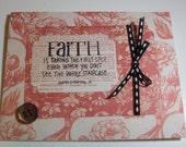 Unique Handmade Faith Card