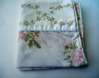 Pink Roses Yellow Flowers Pillowcase