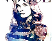 Watercolor Ink Cover Fashion Illustration Art Print