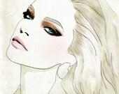 French Vogue Paris Fashion Illustration Drawing Fine Art Print