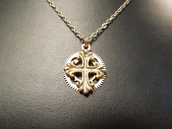 Mini Brass Cross Locket