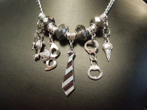 fifty shades of grey inspired cham necklace by