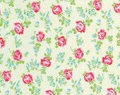 Sugar Hill Fabric by Tanya Whelan for Free Spirit, Scattered Mini Roses in Ivory-Fat Quarter